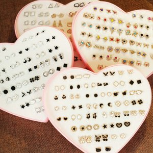 2016 Us 498 Isinyee 36 Pairs Set Cute Small Resin Flower Stud Earring Sets For Girls Kids Candy Earrings Christmas Jewelry With Heart haJgQ