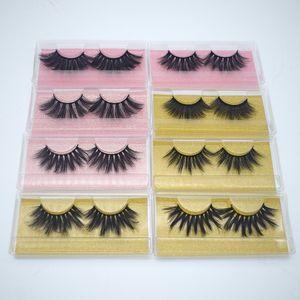 5D 20-25mm 3D Mink pestañas 8 estilos de maquillaje de ojos Mink pestañas falsas suave natural grueso de las pestañas falsas pestañas Herramientas 3D de belleza Extensión