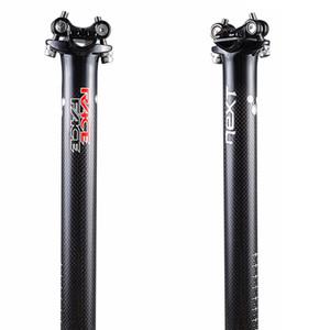 Raça Rosto Próxima Carbon Fiber Seatpost bicicleta assento tubo de Ciclismo de Estrada / Mountain Bike MTB Peças 27,2 / 30,8 / 31,6 * 350/400 milímetros
