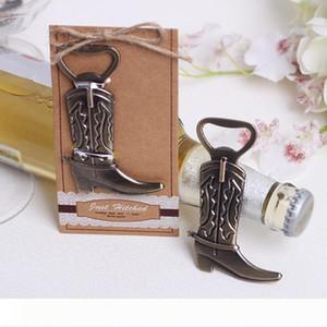 Creative shoes bottle opener cowboy boots modeling European wedding gift wine set beer champagne bottle opener T3I5631