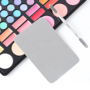 1шт нержавеющей стали Nail Color Palette 1pc Шпатель Drawing Nail Цветовая палитра для смешивания Display Art Set TSLM2