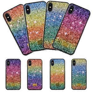 Luxury Gradient Glitter Rhinestone Girl Defender Designer Phone Case For iPhone 11 PRO MAX XS XR X 7 8 6s Plus SE2 Case