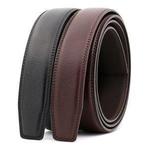 3.0cm 3.1cm Width Leather Belt Men Without Buckle Mens Belts Luxury Genuine Leather Belt Stap Black Brown 110cm-130cm CE3300