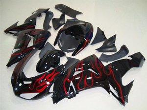 ~ 07 Motosiklet kaporta KAWASAKI NINJA ZX-1000C 06 10R blk 35NO101 ZX10R ZX1000 C ZX10R ZX 10 R ~ 2007 2006 Fairing kiti
