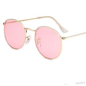 Round Sunglasses Women Brand Designer bead Vintage Sun Glasses For Women Clear lens Eyewear Steampunk Oculo Y15