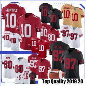 2020 new 10 Jimmy Garoppolo 2020 Jerseys 97 Nick Bosa 85 George Kittle 80 Jerry Rice 56 Reuben Foster 16 Joe Montana football jerseys