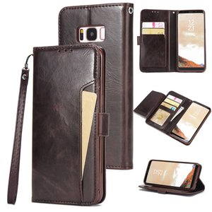 Flip Leather Wallet Case For Samsung S9 S10 Plus Note 10 Pro Multi Card Holder Back Case For iPhone XR X XS Max 7 8 6 6s Plus 5s
