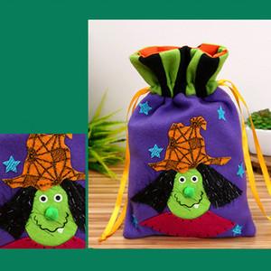 Cadılar Bayramı Dokumasız Tote Hafif Taşınabilir Çocuklar Kabak Şeker Depolama Çanta tatili armağanı Demet Ağız Festivali Aktif Torba DH0089