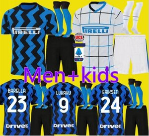 Lukaku LAUTARO SKRINIAR Inter 19 20 21 de futebol Milan jerseys ALEXIS GODIN Barella Jersey 19 20 futebol kit top camisas conjuntos Homens crianças uniforme