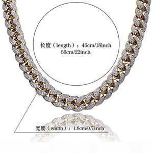 Y 2018 High Quality Exclusively For Europe And America Hip Hop Cuba Miami Men &#039 ;S Hip Hop Big Gold Chain 18mm Three -Dimensional Z