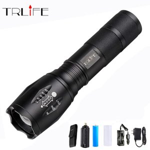LED T6 L2 V6 1000 Lums Tactical Flash light High Power LED Torch Zoom Lantern+1*18650 Battery+DC AC Charger+Holster