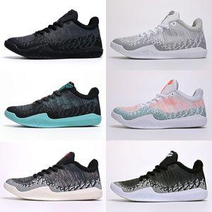 Высокое качество Mamba 11 Elite Men Basketball Shoes Bruce Lee FTB White Horse Red Horse ахиллесова пята 11s Спорт Sneaker магазин