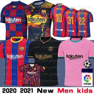 10 Messi 2021 yeni Barcelona Futbol Forma Griezmann FATI Martens Semedo Pique Busquets Suarez Camiseta de Fútbol Umtiti Firpo Dembélé