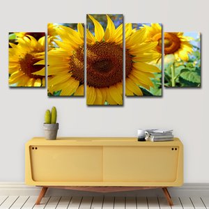 Landscape Canvas Wall Art Painting Sunflower Pictures for Bedroom Living Room Home Decor Unframed
