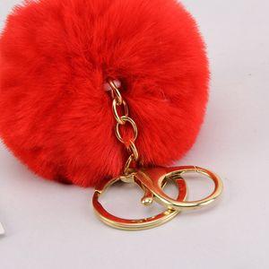Designer Keychain 8cm Anti-hair Ball Key Chain Rex Rabbit Hair Ball Pendant Hair Ball Pendant Mobile Phone Accessories Bag 2020 Keychain