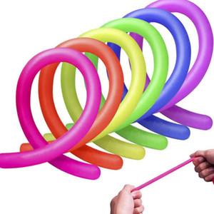 Dekompression Spielzeug Stretchy Schnur Neon Flexible 18 * 1cm elastische Schnur Seil Sensory Dekomprimierung Kinder Neuheit-Spielwaren Dekompression Spielzeug