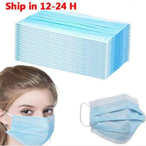 24hours Ship! Disposable Face Masks Disposable 3 Layers Dustproof Mask Facial Protective Cover Masks Set Anti-Dust Mask Free Ship