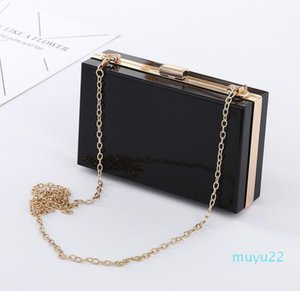 Designer-Transparent Acrylic bag bling Chain Box Bag clear crossbody bags clutch for women evening party