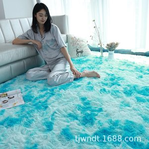 Factory Direct Long Wool Tie-Dyed Living Room Bedroom Household Kitchen Carpet Fabric Soft Home Warm Carpet Customization