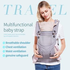 Ergonomic Portadores bebê Backpack 3-48M ajustável portátil Baby Sling wrap Cotton Manduca infantil recém-nascido Kangaroo Bag Hipseat