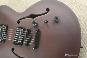 Fosco vermelho-Vinho Semi-OCO Guitarra Elétrica com Preto Tuners, Touche palissandre Incrustações ETM, personalizada Serviços oferta