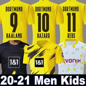 20 21 HAALAND Borussia DANGER maillot de football 2020 dortmund 2021 Maillot de foot 110e REUS HUMMELS SANCHO BRANDT hommes + enfants Kit troisième maillot manches courtes
