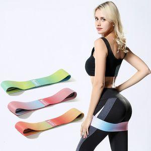 Culturismo tren elástico Band Círculo de Yoga Sus caderas Bandas Resistencia gradientes Gimnasio en casa aparatos de ejercicios Suministros 16cm Conveniente E2