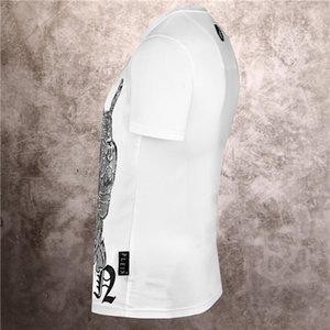2020 NEW LUXURY HOT DIAMOND CARTOON DESIGN BODY BLOOD SHIRT DESIGNER PP short-sleeved summer clothing design men and women