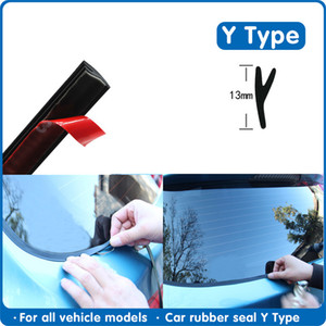Fillers Y type Car Rubber Seal Car Window Sealant Rubber Roof Windshield Protector Seal Strips Trim For Auto Front Rear Windshield