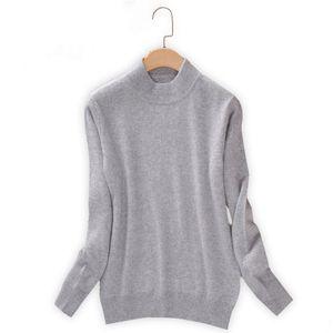 Qualtiy Cashmere Sweater Women Turtleneck Women's Plus Size Knitted Pullovers Winter Warm Sweaters Female D498