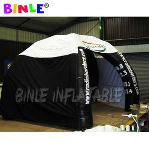 Lightweight Portable black Inflatable spider tent with side panels promotional dome shelter for event