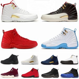12s hiberné WNTR CNY Gym Red Michigan Hommes Chaussures de basket-Royal Game Le Master Jeu Flu taxi 12 ailes hommes sneakers sport formateurs