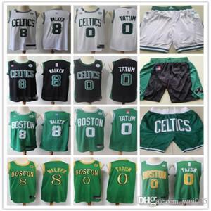 MensBostonCeltics8 KembaWalker 0 JaysonTatum Green white black Basketball Shorts Basketball Jersey