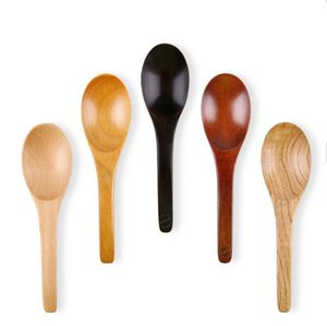 Cucchiaio di legno Cucchiaio colazione bella zuppa Cucchiaio Caffè Miele Tea Spoon agitatore cucina casalinghi strumento Cucchiaino da tavola LSK608