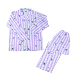 animal cartoon long pajama set polyester bt boys Women Kawaii Cute home wear Female Harajuku sleep wear Y200708