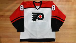 ordinazione poco costoso 1993-94 Eric Lindros Philadelphia Flyers JERSEY CCM Mens personalizzati maglie cucitura