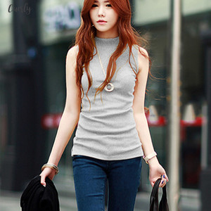 Spring Women Summer Sleeveless Solid Color Tops Tees Cotton Tanks Tops Camis Women Lady Vest 10 Colors
