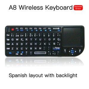 2.4Ghz Mini Wireless Keyboard Flying Air Mouse White Backlit Remote Control Mini Keyboard 3 in1 Multifunction Wireless Keyboard Set
