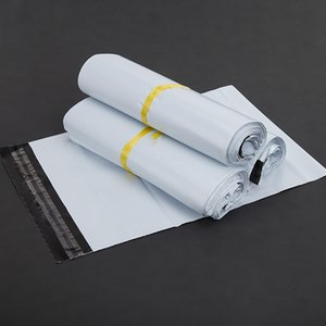 100pcs lot All size White shipping envelopes Self-seal Mailbag Plastic Poly Mailing Waterproof Postal Shipping Courier Bags
