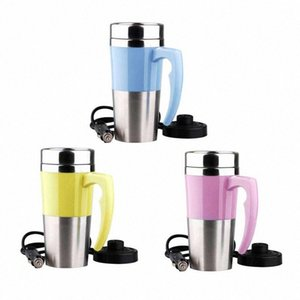 12V Stainless Steel Electric Cup Hot Water Kettle With Handle For Car Travel Freely Customizable Temperature Insulation l9RD#
