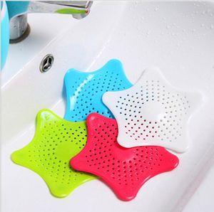 Filter Sink Ausflußpfropfen Badezimmer Form Stare Haar Filter Ausflußpfropfen Küche Badezimmer Sea Star Sucker Filter Seiher Sieb DHA341