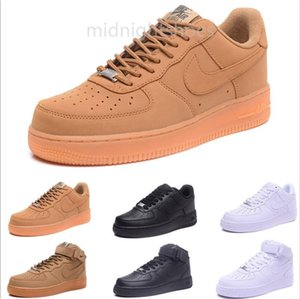 2019 Newest high quality force men's women's low shoes mesh Breathable one unisex 1 knit Euro mens womens designer AiR shoes MY7GG