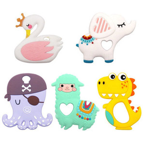 Baby silicone cartoon teethers toy baby comfortable molar stick toys mother and baby teether supplies wholesale