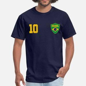 Create Brazil Retro Jersey T-Shirt For Men Girl Boys Round Neck Graphic T Shirt Big Size 3xl 4xl 5xl Gents Hiphop