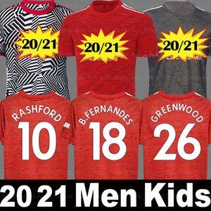 20 21 maillot de football Manchester United MAN UTD RASHFORD POGBA BRUNO FERNANDES F.FERNANDES GREENWOOD 2020 2021 homme enfant kit maillots de foot top thaïlande qualité shirt
