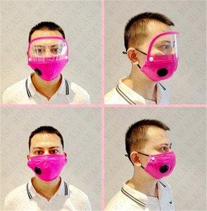 Ayrılabilir Pamuk Yüz Maskesi Kadınlar Erkekler Çıkarılabilir Göz Kalkanı Temizle Siperlik Maskeleri Tam Kapak Nefes Vana Filtre Cep Yuvası 2020 D71511 ile