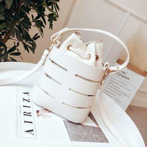 LEFTSIDE Drawstring Bucket Bag For Women 2020 Mini PU Leather Crossbody Bags Ladies Shoulder Bags Female Handbags Pure Color