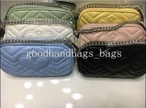 Yüksek Kalite Yeni Stil Kadın Çanta Gümüş Zincir Omuz Çantaları Crossbody Soho Çanta Disko Messenger Çanta Çanta Cüzdan stokta 6 renk # 585