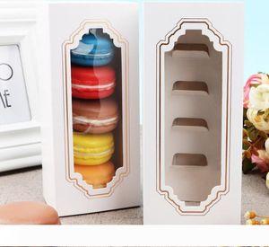 5 Cups Pastry Packaging Drawer Box Hot New Window Macaron Box, Cake Box, Gift Box W9965
