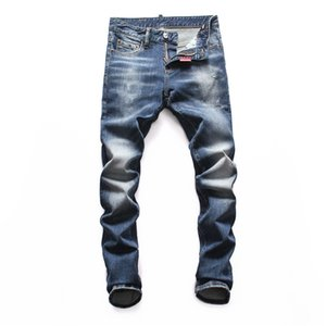 luxury European street fashion Mens Jeans Washed and dressed jeans Motorcycle Biker Men Brand fashion Designer Hip Hop Denim pants